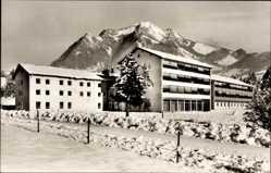 Postcard Bolsterlang im Allgäu, Blick auf Sanatorium Hirtenstein, Schnee, Berg