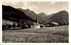 Postcard Oberjoch Hindelang Bayerisches Hochallgäu, Blick auf Kirche, Gebirge