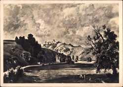 Künstler Ak Bayerlein, Fritz, Burg Kallmünz, HDK 503