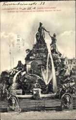 Postcard Ludwigshafen am Rhein Rheinland Pfalz, Blick auf den Jubiläumsbrunnen