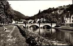 Postcard Sulz am Neckar in Baden Württemberg, Untere Neckarbrücke, Fluss, Hotel