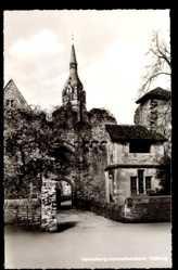 Postcard Heidelberg Handschuhsheim am Neckar, Partie am Tor der Tiefburg