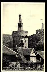 Postcard Weinheim an der Bergstraße Baden, Roter Turm mit Ruine Windeck