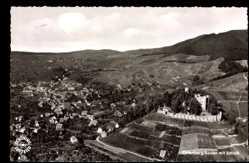 Postcard Ortenberg Baden, Fliegeraufnahme von Ort und Schloss