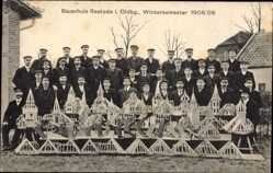 Studentika Ak Rastede, Bauschule, Wintersemester 1909/10, Schüler, Werke