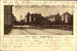 Postcard Lahr im Schwarzwald Ortenaukreis, Straßenpartie mit Artilleriekasernen