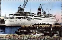 Postcard Alger Algerien, Paquebot Kairouan, Cie de Navigation Mixte
