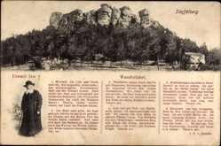 Gedicht Ak Bad Staffelstein am Main, Staffelberg, Eremit Ivo, Wanderfahrt