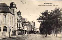 Postcard Bremerhaven Niedersachsen, Bürgermeister Schmidt Straße am Markt
