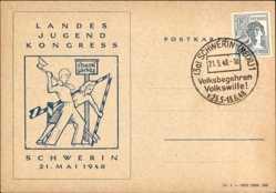 Postcard Schwerin in Mecklenburg Vorpommern, Landes Jugend Kongress