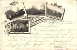 Postcard Buxtehude im Kreis Stade, Grüner Garten, Kegelbahn, Rehteich, Garten