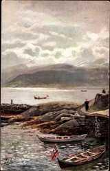 Künstler Ak Sognefjord Norwegen, Blick von Balholm, Tuck 221 B