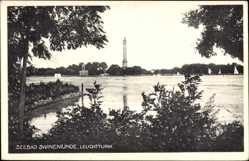 Ak Świnoujście Swinemünde Pommern, Blick zum Leuchtturm