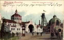 Postcard Düsseldorf am Rhein, Gewerbeausstellung, Pavillon für bergbauliche Interessen