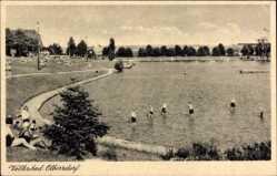 Postcard Oberstdorf im schwäbischen Kreis Oberallgäu, Volksbad am Zittauer Gebirge