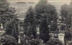 Postcard Saarbrücken im Saarland, Blick ins Ehrental, Friedhof
