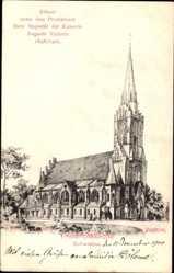 Künstler Ak Hagedorn, Schwiebus Swiebodzin Ostbrandenburg, Friedenskirche