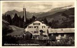 Postcard Tiefenbach Oberstdorf im Oberallgäu, Walserschanz am Ausgang Breitachklamm