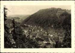 Postcard Bad Berneck im Fichtelgebirge Oberfranken, Blick von der schönen Aussicht