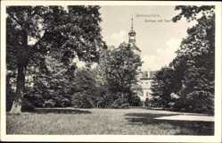 Ak Lubsko Sommerfeld Ostbrandenburg, Schloss mit Park