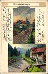 Künstler Litho Stagura, Albert,Friedrichroda Thüringer Wald, Schauenburgsmühle