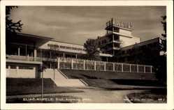 Postcard Sliač Slowakei, Stat. Kupelny dom, Staatliches Badehaus