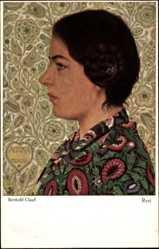 Künstler Ak Clauß, Berthold, Resi, Frauenportrait, Haarschnecke, Primus 3068