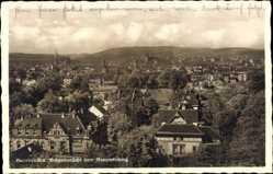 Postcard Saarbrücken, Stadtpanorama, Blick vom Reppertsberg, Häuser, Türme