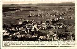 Postcard Heuberg Stetten am kalten Markt im Kreis Sigmaringen, Fliegeraufnahme, Ort