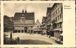 Postcard Tübingen am Neckar Baden Württemberg, Marktplatz, Rathaus