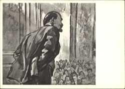 Künstler Ak H. H. Zhukov, Lenin auf dem Kongress der Kominterna