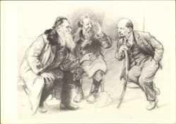 Künstler Ak H. H. Zhukov, Lenin hört alten Männern zu