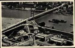 Postcard Belgrad Serbien, Fliegeraufnahme, Le pont du Roi Alexandre I., Brücke