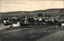 Ansichtskarte / Postkarte Neustadt an der Orla, Panorama der Stadt, Kirche, Felder