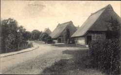 Postcard Hansestadt Bremen, Grambkermoor, Straßenpartie, Häuser