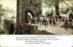 Künstler Ak Diemer, Zeno, Hemelingen Bremen, Kriegesfahrt der Kaiser, Bier