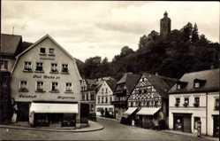 Postcard Bad Berneck Oberfranken Fichtelgebirge, Marktplatz, Blick zum Schlossberg