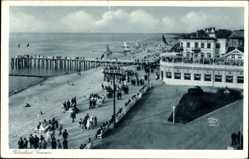 Ak Selenogradsk Cranz Ostpreußen, Ostseebad, Strand, Strandpavillon