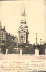 Postcard Ludwigshafen am Rhein Rheinland Pfalz, Blick auf den Luitpold Brunnen