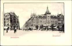 Postcard Düsseldorf am Rhein, Bahnhofsplatz, Hotel Bristol