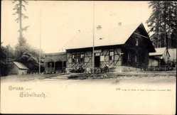 Postcard Gabelbach Zusmarshausen Schwaben, Blick auf ein Gasthaus