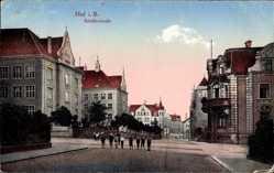 Postcard Hof an der Saale Oberfranken Bayern, Schillerstraße, Kinder
