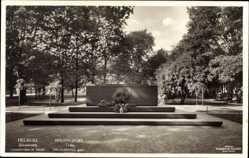 Postcard Helsinki Helsingfors Südfinnland, Tyska frihetshjältarnas grav, Heldengrab