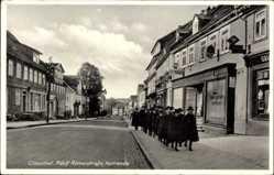 Ak Clausthal Zellerfeld im Oberharz, Adolf Römerstraße, Kurrende, Geschäfte