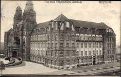 Postcard Bochum im Ruhrgebiet, Das neue Knappschaftsgebäude, Straße