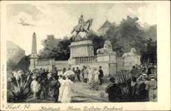 Künstler Ak Stuttgart in Baden Württemberg, Kaiser Wilhelm Denkmal