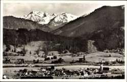 Postcard Wertach Bayr. Allgäu, Panorama mit Gaishorn und Rauhorn, Ort