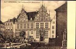 Postcard Hansestadt Bremen, Das Krameramtshaus, Gewerbehaus