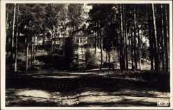 Postcard Punkaharju Finnland, Valtionhotelli, Gebäude im Wald