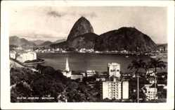 Postcard Rio de Janeiro Brasilien, Botafogo, Blick zum Zuckerhut, Hochhäuser